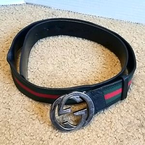Gucci GG Red and Green Belt